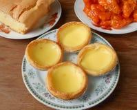 亚洲快餐蛋酥皮点心 免版税库存照片