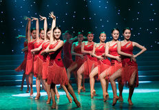 亚洲拉丁舞蹈热情这花  库存照片
