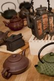 亚洲收集茶壶 免版税图库摄影