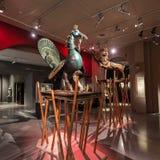 亚洲文明博物馆内部 免版税库存图片