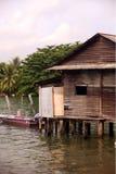 亚洲新加坡帕劳UBIN村庄 免版税图库摄影