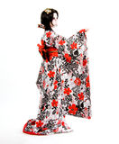 亚洲日本cosplay Kabuki女孩 免版税库存图片
