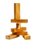 亚洲木玩具块 库存图片
