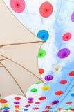 亚洲样式伞 免版税库存照片