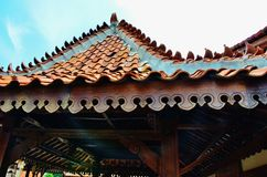 亚洲样式房子 库存照片