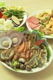 亚洲样式热的罐厨师 免版税库存照片