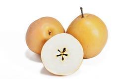 亚洲梨果子或pyrus pyrifolia 免版税库存图片