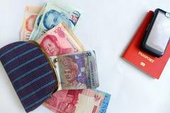亚洲概念的女性记录 免版税库存照片