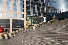 亚洲汉语,北京,东方广场,王府井商业区,春节装饰 免版税库存图片