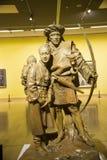 亚洲汉语,北京,中国美术馆,室内陈列hallï ¼ Œ雕塑,山的珞巴族孩子 免版税库存照片