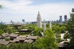 亚洲汉语,北京,中国Minzu元,景观鸟瞰图, 免版税库存照片