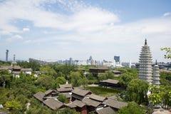 亚洲汉语,北京,中国Minzu元,景观鸟瞰图, 图库摄影