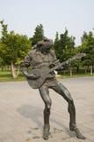 亚洲汉语,北京,国际雕塑公园,雕塑,岩石青年时期 库存照片