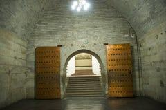 亚洲汉语,北京,明代Tombsï ¼ Œunderground palaceï ¼ ŒUnderground坟茔 免版税图库摄影