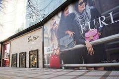 亚洲汉语,北京,王府井商业街 库存图片