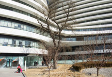 亚洲汉语,北京,现代建筑学, yin他苏荷区 图库摄影
