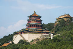 亚洲汉语,北京,颐和园,佛教香火塔  免版税图库摄影