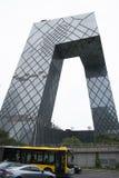 亚洲汉语,北京, CCTV总部 免版税库存照片
