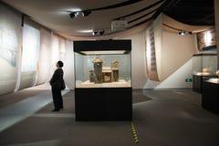 亚洲汉语,资本博物馆,北京,对北部水转换项目陈列的南部 免版税库存照片
