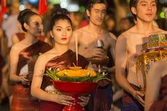 亚洲泰国城镇LOY KRATHONG节日 免版税库存图片