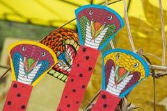亚洲泰国曼谷萨娜姆LUANG风筝飞行 库存照片