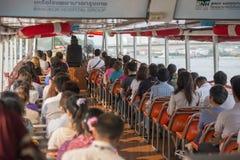 亚洲泰国曼谷BANGLAMPHU晁PHRAYA运输 库存照片