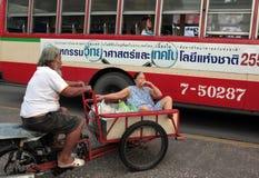 亚洲泰国曼谷NONTHABURI市场运输 免版税库存照片