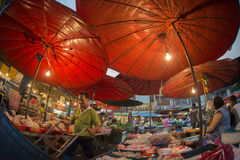 亚洲泰国曼谷NOTHABURI早晨市场 库存照片