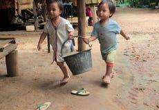 亚洲泰国清迈PAUDANG CHILDERN 免版税库存图片
