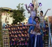 亚洲泰国清迈WAT帕纳陶 免版税库存照片