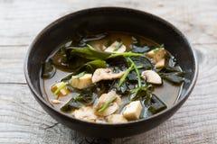 亚洲海鲜汤 免版税库存照片