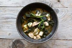 亚洲海鲜汤 免版税库存图片
