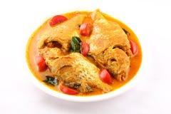 从亚洲烹调的辣鱼咖喱 免版税库存图片