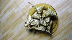 亚洲烹调ketupat palas或被包装的米 图库摄影