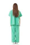 亚洲医生女服背面图隔离褂子或operati 免版税图库摄影