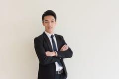 亚洲生意人年轻人 免版税库存照片