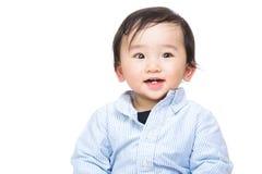 亚洲男婴画象 库存图片