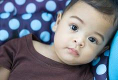 亚洲男婴面孔 库存图片