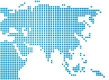 亚洲的地图 皇族释放例证