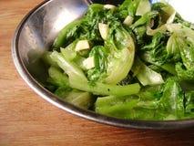 亚洲盘蔬菜 免版税库存图片