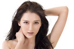 亚洲秀丽面孔 库存照片