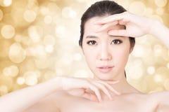 亚洲秀丽面孔 免版税库存照片