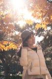亚洲秋天愉快的女孩3 库存图片