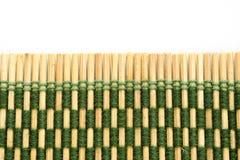亚洲竹席子样式 库存照片