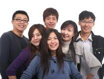 亚洲组年轻人 免版税库存照片