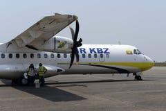 亚洲缅甸空气KBZ 免版税库存图片