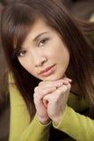 亚洲美丽的中国妇女年轻人 免版税图库摄影