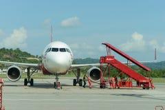 亚洲航空喷气机飞行 免版税库存照片