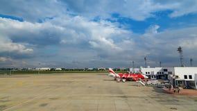 亚洲航空在曼谷,泰国 免版税库存图片
