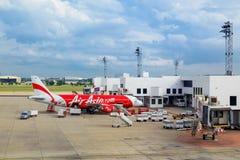 亚洲航空在曼谷,泰国 图库摄影